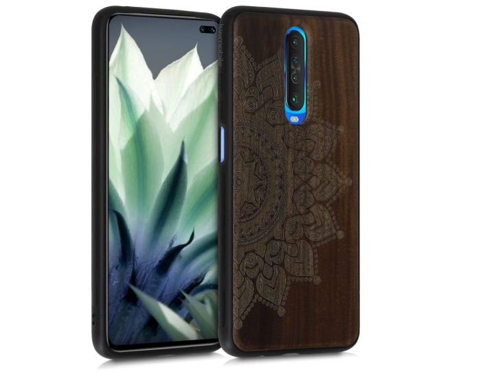 KWmobile Wooden Case Rising Sun (51281.01) Θήκη Ξύλινη Walnut (Xiaomi Redmi K30)
