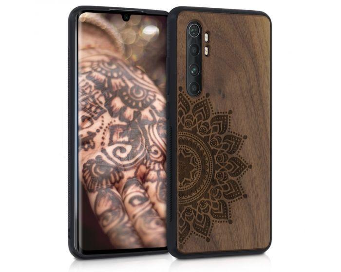 KWmobile Wooden Case Rising Sun (52448.01) Θήκη Ξύλινη Walnut (Xiaomi Mi Note 10 Lite)