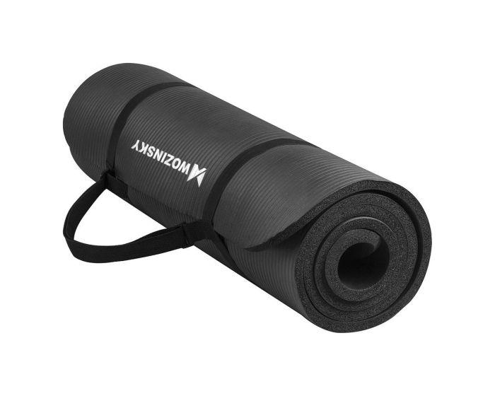 Wozinsky Non Slip Exercise Mat (WNSP-BLAC) Χαλί Γυμναστικής Black