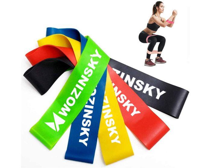 WOZINSKY Rubber Exercise Bands (WRBS5-01) Σετ x5 Λάστιχα Αντίστασης