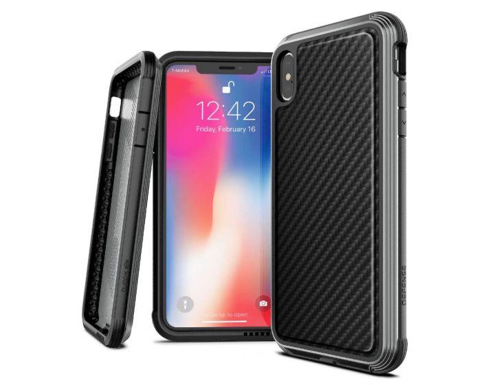 X-Doria Defense Lux Ανθεκτική Θήκη Black Carbon (iPhone Xs Max)