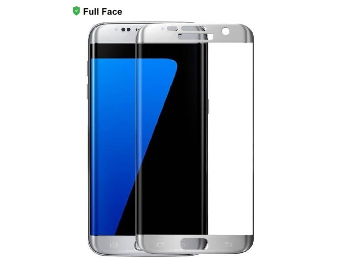 X-One 3D Full Face Curved Silver Αντιχαρακτικό Γυαλί 9H Tempered Glass (Samsung Galaxy S7)