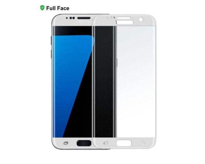 X-One 3D Full Face Curved White Αντιχαρακτικό Γυαλί 9H Tempered Glass (Samsung Galaxy S7)