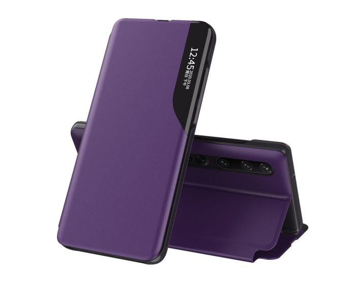 Eco Leather View Case Θήκη Πορτοφόλι με Stand - Purple (Xiaomi Mi 10 / Mi 10 Pro)