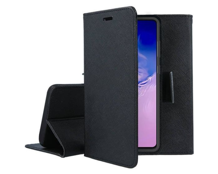 Tel1 Fancy Diary Case Θήκη Πορτοφόλι με δυνατότητα Stand Black (Xiaomi Mi 10 / Mi 10 Pro)