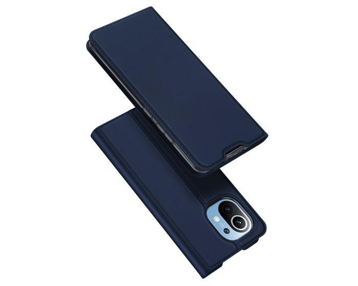DUX DUCIS SkinPro Wallet Case Θήκη Πορτοφόλι με Stand - Navy Blue (Xiaomi Mi 11)