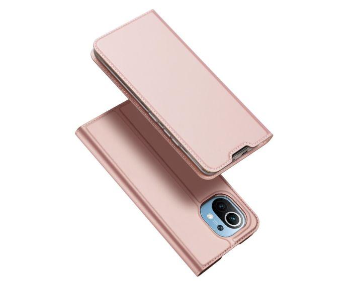 DUX DUCIS SkinPro Wallet Case Θήκη Πορτοφόλι με Stand - Rose Gold (Xiaomi Mi 11)