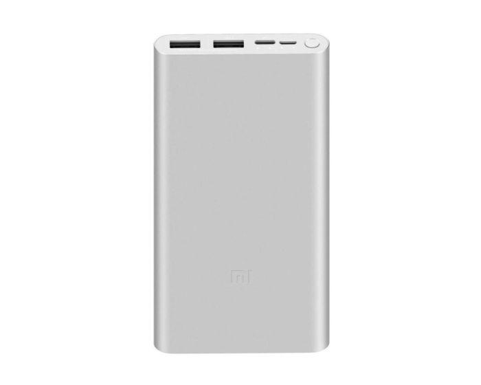 Xiaomi Mi 3 Power Bank 18W Fast Charge Εξωτερική Μπαταρία 10000mAh - Silver