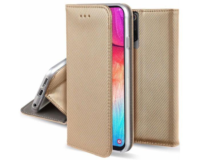 Forcell Smart Book Case με Δυνατότητα Stand Θήκη Πορτοφόλι Gold (Xiaomi Mi A3 Lite)