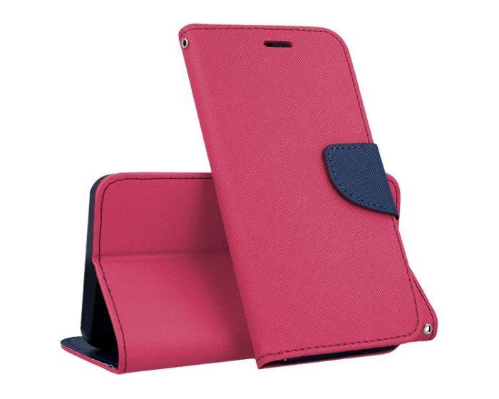 Tel1 Fancy Diary Case Θήκη Πορτοφόλι με δυνατότητα Stand Pink / Navy (Xiaomi Mi5)