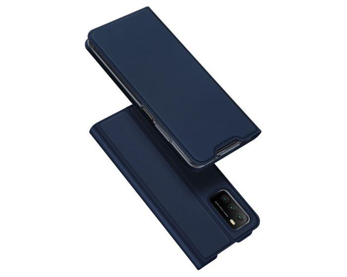 DUX DUCIS SkinPro Wallet Case Θήκη Πορτοφόλι με Stand - Blue (Xiaomi Poco M3 / Redmi 9T)