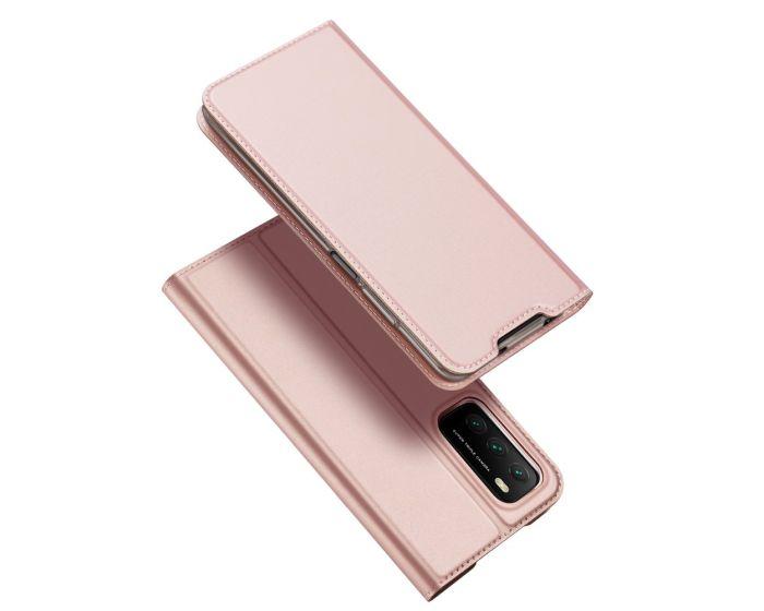 DUX DUCIS SkinPro Wallet Case Θήκη Πορτοφόλι με Stand - Rose Gold (Xiaomi Poco M3 / Redmi 9T)
