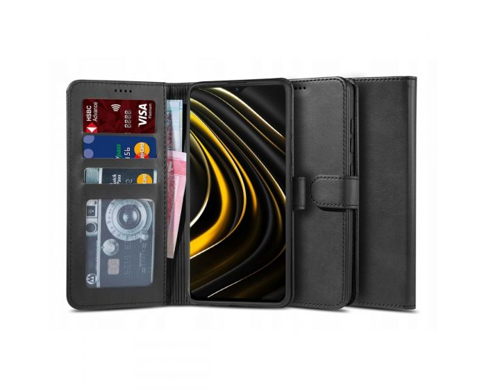 TECH-PROTECT Wallet 2 Case Θήκη Πορτοφόλι με Stand - Black (Xiaomi Poco M3 / Redmi 9T)