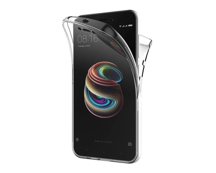 Forcell Full Face Ultra Thin 0.3mm Silicone Case Όψης & Πλάτης Διάφανη (Xiaomi Redmi 5A)