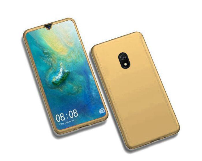 360 Full Cover Case & Tempered Glass - Gold (Xiaomi Redmi 8A)