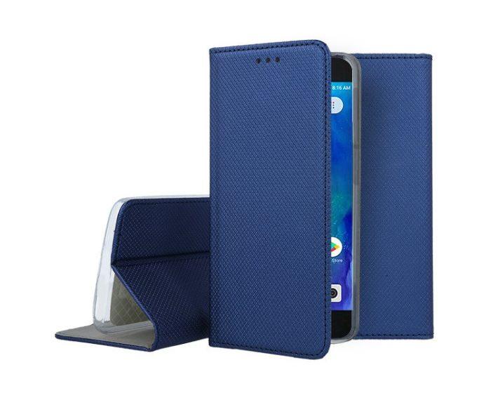 Forcell Smart Book Case με Δυνατότητα Stand Θήκη Πορτοφόλι Navy Blue (Xiaomi Redmi Go)