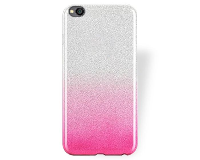 Forcell Glitter Shine Cover Hard Case Clear / Pink (Xiaomi Redmi Go)