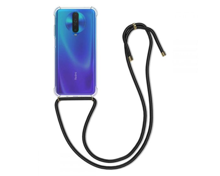 KWmobile Crossbody Silicone Case with Black Neck Cord Lanyard Strap (51430.01) Διάφανη (Xiaomi Redmi K30)