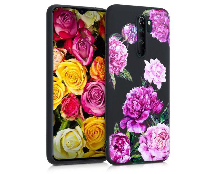 KWmobile Slim Fit Gel Case Flower Mix (50249.03) Θήκη Σιλικόνης Μαύρη (Xiaomi Redmi Note 8 Pro)