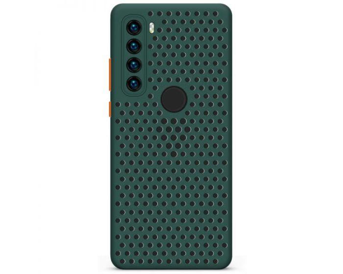 Breath Colored Buttons TPU Case Θήκη με Οπές Green (Xiaomi Redmi Note 8T)