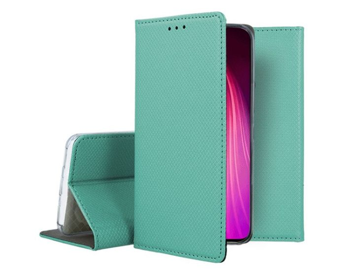 Forcell Smart Book Case με Δυνατότητα Stand Θήκη Πορτοφόλι Mint (Xiaomi Redmi Note 8T)