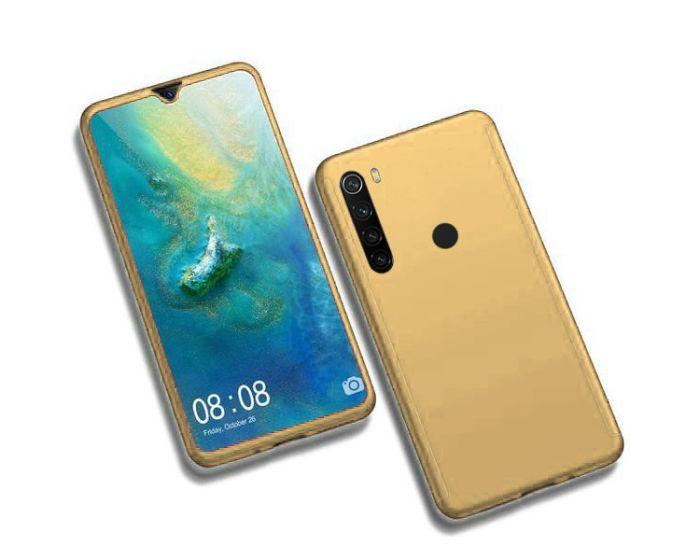 360 Full Cover Case & Tempered Glass - Gold (Xiaomi Redmi Note 8T)