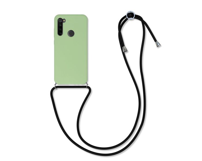 KWmobile Crossbody Silicone Case with Neck Cord Lanyard Strap (52375.107) Olive Green (Xiaomi Redmi Note 8T)