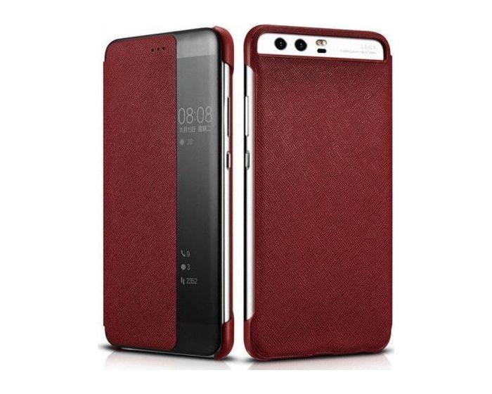 Xoomz (XHP 10005) Smart Cover Flip Case Θήκη με Ενεργό Παράθυρο - Red (Huawei P10 Plus)