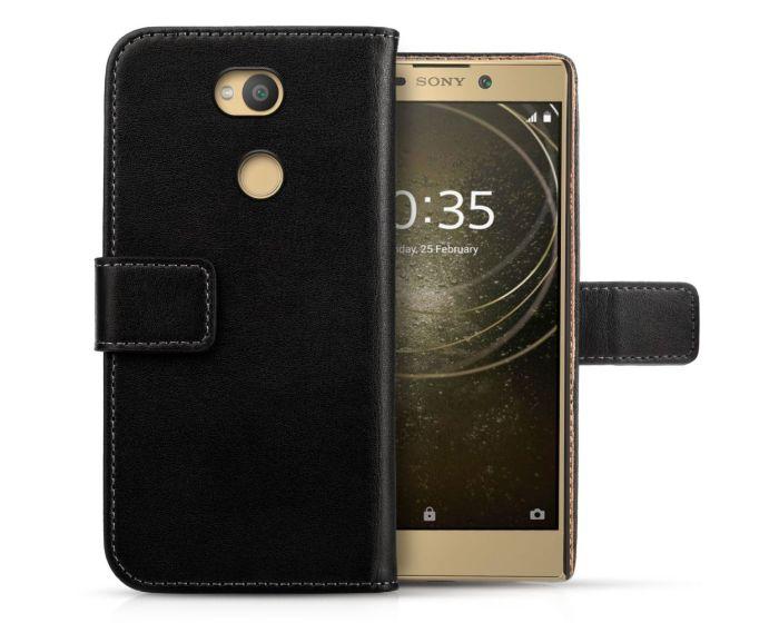 Centopi Δερμάτινη Θήκη Πορτοφόλι Wallet Case Μαύρο (Sony Xperia L2)
