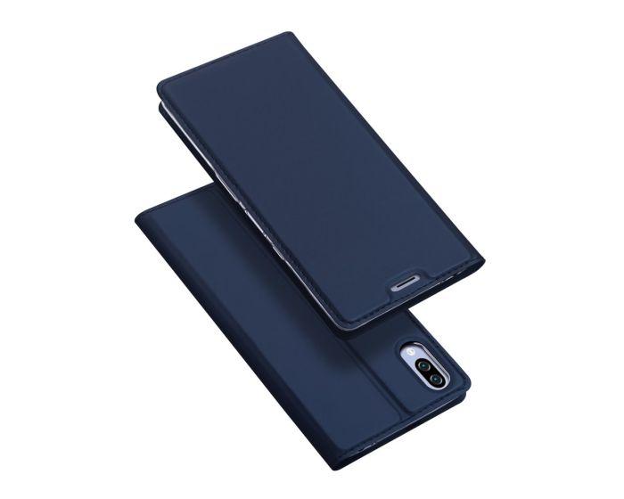 DUX DUCIS SkinPro Wallet Case Θήκη Πορτοφόλι με Stand - Navy Blue (Sony Xperia L3)