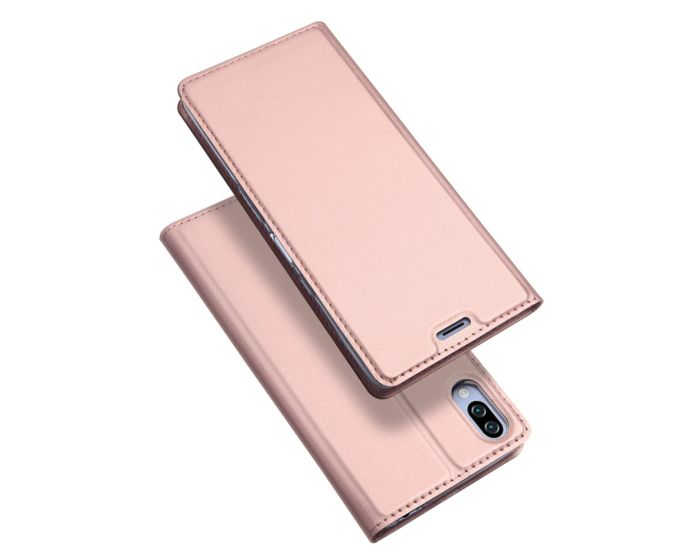DUX DUCIS SkinPro Wallet Case Θήκη Πορτοφόλι με Stand - Rose Gold (Sony Xperia L3)