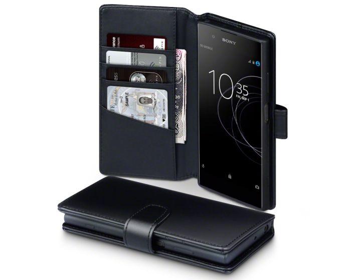 Terrapin Δερμάτινη Θήκη Πορτοφόλι Wallet Case (117-005-551) Μαύρο (Sony Xperia XA1 Plus)