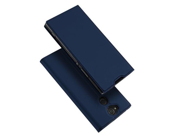 DUX DUCIS SkinPro Wallet Case Θήκη Πορτοφόλι με Δυνατότητα Stand - Navy Blue (Sony Xperia XA2)