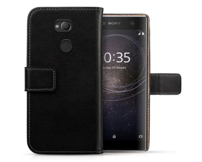 Centopi Δερμάτινη Θήκη Πορτοφόλι Wallet Case Μαύρο (Sony Xperia XA2 Ultra)