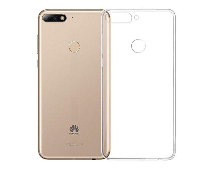 Ultra Slim 0.3mm Silicone Case Θήκη Σιλικόνης Διάφανο (Huawei Y6 Prime 2018)