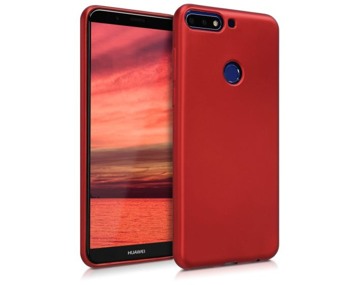 KWmobile Jelly Case Θήκη Σιλικόνης (44823.36) Metallic Dark Red (Huawei Y7 2018 / Y7 Prime 2018)