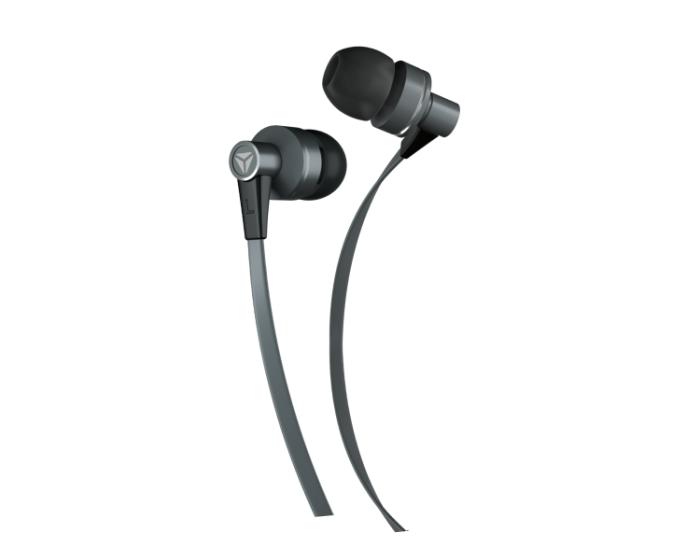 Yenkee Handsfree YHP 105 GY Flat Ακουστικά με Ενσωματωμένο Μικρόφωνο - Grey
