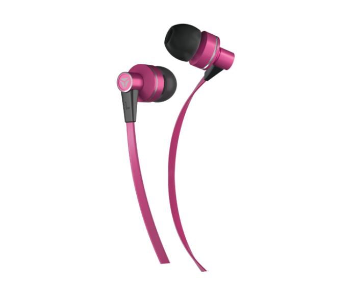Yenkee Handsfree YHP 105 PK Flat Ακουστικά με Ενσωματωμένο Μικρόφωνο - Pink