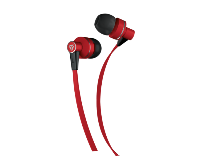 Yenkee Handsfree YHP 105 RD Flat Ακουστικά με Ενσωματωμένο Μικρόφωνο - Red