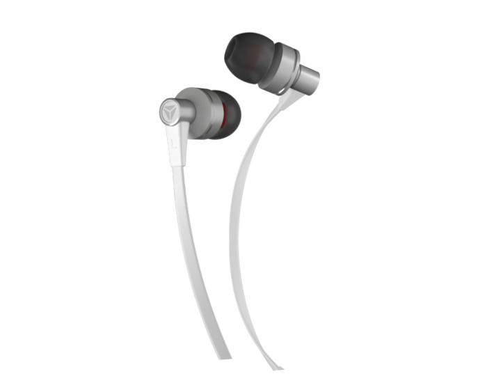 Yenkee Handsfree YHP 105 SR Flat Ακουστικά με Ενσωματωμένο Μικρόφωνο - White