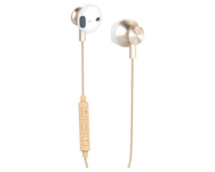 Yenkee Handsfree YHP 305GD Ακουστικά με Ενσωματωμένο Μικρόφωνο - Gold